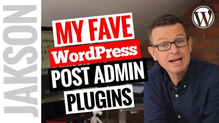 Best WordPress Admin Plugins