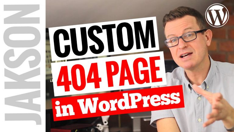 How to Create a Custom 404 Page in WordPress Tutorial