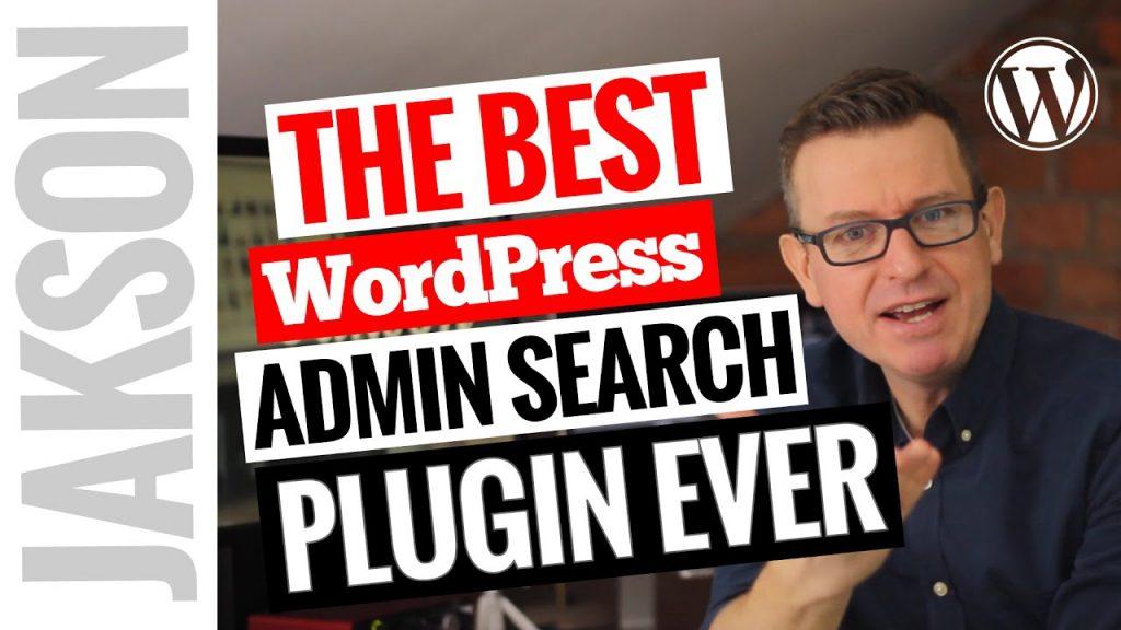 The Best WordPress Admin Search Plugin Ever!